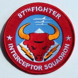 87th Fighter Interceptor Squadron Red Bulls Official Patch