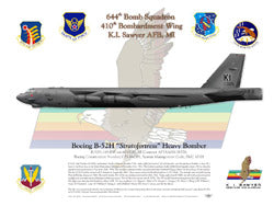 Last Buff To Leave - B-52H Stratofortress Litho Print