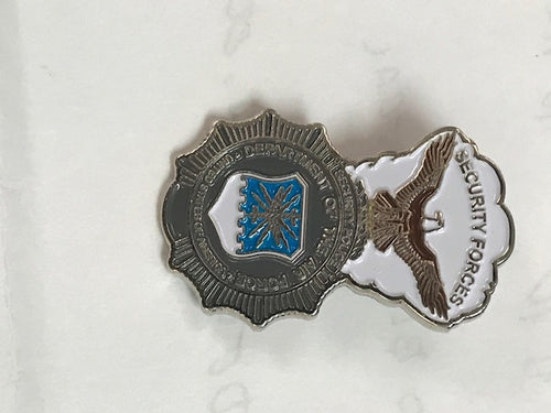 SAC Security Police Shield Pin