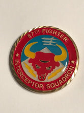 Load image into Gallery viewer, 87th Fighter Interceptor Squadron Challange Coin