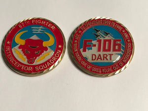 87th Fighter Interceptor Squadron Challange Coin