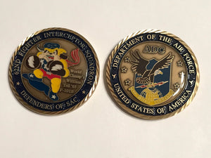 62nd Fighter Interceptor Squadron Challange Coin