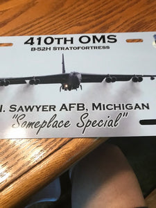 410th OMS with B-52 License Plate