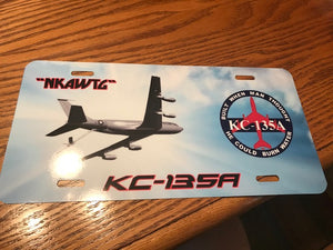 "KC-135A  ""NKAWTG"" License Plate"