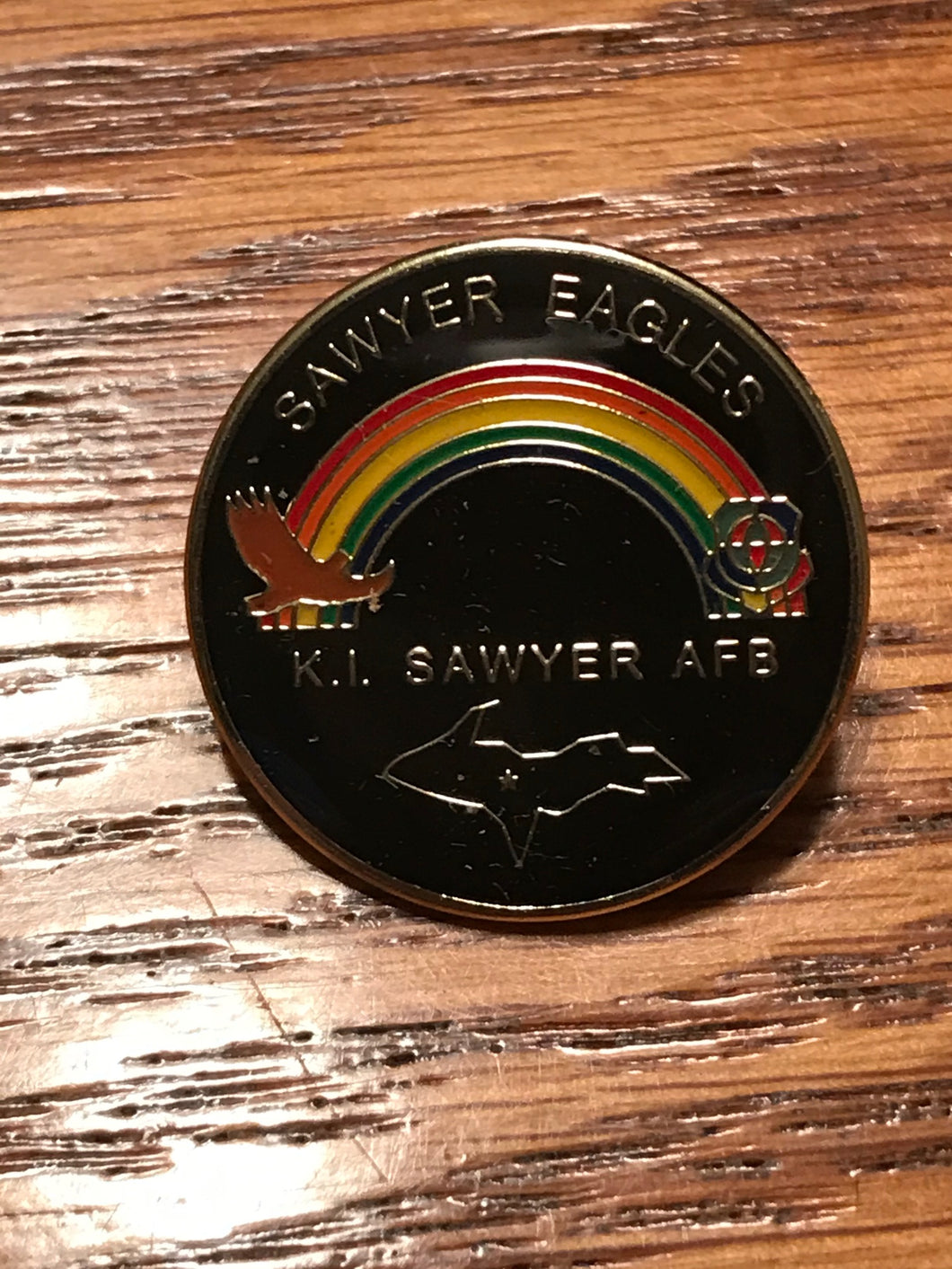 Official K.I. Sawyer Air Force Base Hat Pin