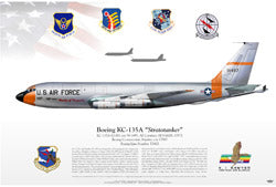 First KC-135 To Arrive - Stratotanker Litho Print