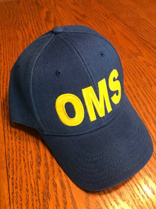 "410th ""OMS"" Hat,   Royal Blue, with Velcro closure"
