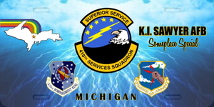410th Services Squadron License Plate