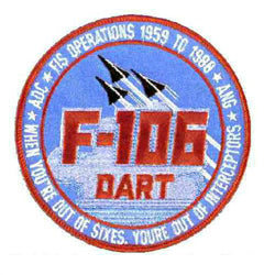 F-106A Delta Dart Fighter Interceptor Patch