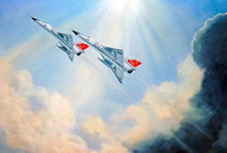 Breaking Out On Top - F-106A Delta Dart Fighter Interceptor 16 x 20 Litho Print