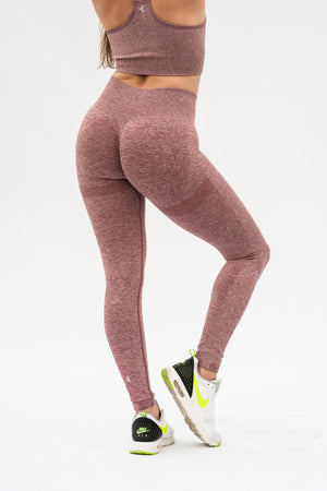 Bootyful Contour Leggings Red Marl