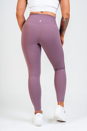 Luxe Side Mesh Leggings Rouge