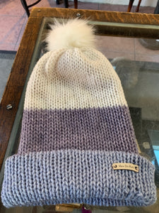 *Handmade in Castle Rock* Knitted Hat with Pom