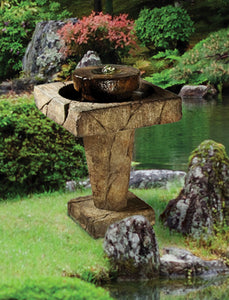 "Stone Edge Bubbler Fountain 28""H"