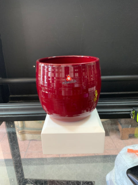 Cover Pot- Dark Red 5.75""