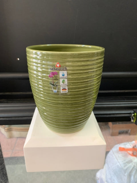 Cover Pot - Glass Olive 5""