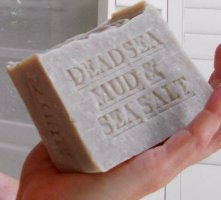 dead sea mud soap  wash hands