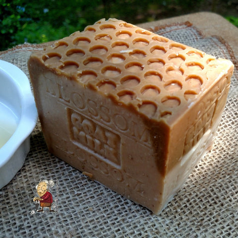 Goat's milk soap with honey blossom
