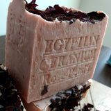 Geranium Soap Bar Artisan Aged Limited Edition  Extra large 13 OZ.