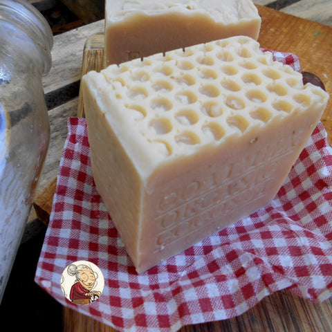 goat milk and coconut soap aged artisan