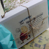 Box with label Male Gifts Handmade soap