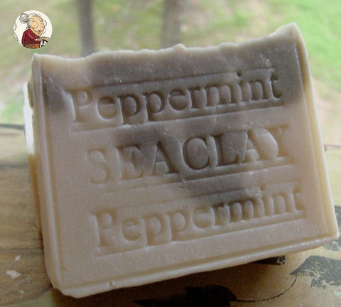 Peppermint Natural Soap with Sea Clay