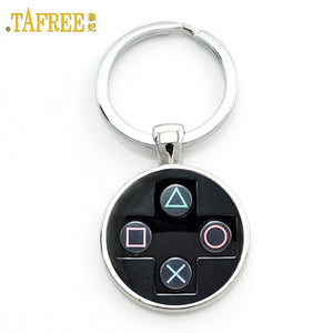 TAFREE Brand Video Game Controller Photo Keychain