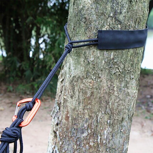 New outdoor hammock tied rope