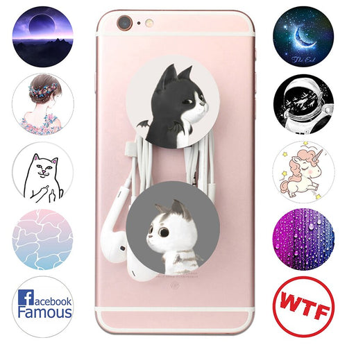 popsoket Cartoon Cat Cute Small Mobile