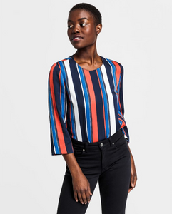 Preppy Stripe Relaxed Top