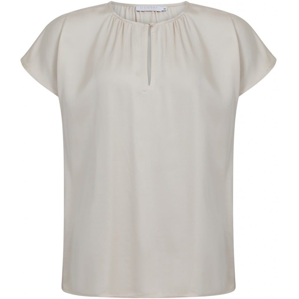 Top with Short Sleeve and Button Closing