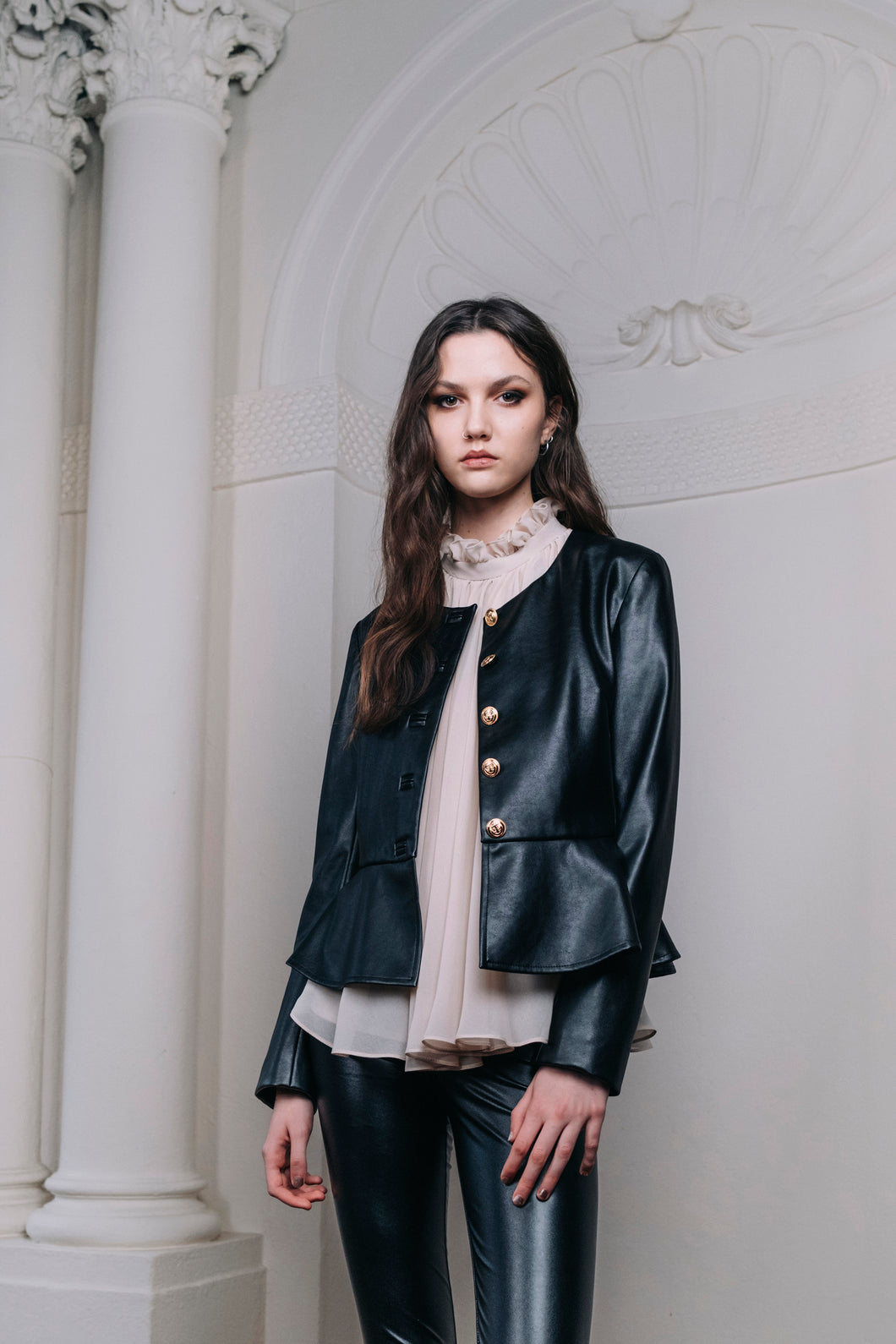 Evie Vegan Leather Jacket