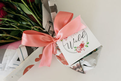 EverWild Florals hand wrapped flowers
