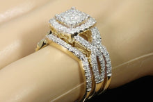 Load image into Gallery viewer, 10K YELLOW GOLD 2 CARAT WOMEN DIAMOND ENGAGEMENT RING WEDDING BAND BRIDAL SET