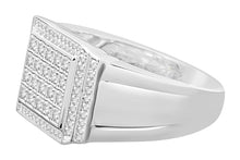 Load image into Gallery viewer, 10K WHITE GOLD .58 CARAT MENS REAL DIAMOND ENGAGEMENT WEDDING PINKY RING BAND