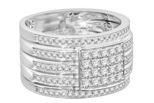 Load image into Gallery viewer, 10K WHITE GOLD 1.17 CARAT MENS REAL DIAMOND ENGAGEMENT WEDDING PINKY RING BAND