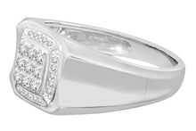 Load image into Gallery viewer, 10K WHITE GOLD .41 CARAT MENS REAL DIAMOND ENGAGEMENT WEDDING PINKY RING BAND