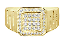 Load image into Gallery viewer, 10K YELLOW GOLD .51 CARAT MENS REAL DIAMOND ENGAGEMENT WEDDING PINKY RING BAND