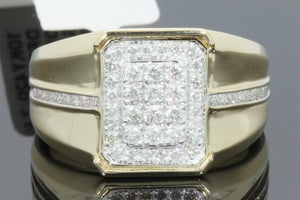 10K SOLID YELLOW GOLD .74 CARAT REAL DIAMOND ENGAGEMENT RING WEDDING PINKY BAND