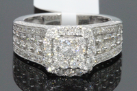 10K WHITE GOLD 1.84 CARAT WOMEN REAL DIAMOND BRIDAL WEDDING RING ENGAGEMENT RING