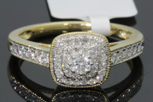 Load image into Gallery viewer, 10K SOLID YELLOW GOLD .50 CT REAL DIAMOND WOMEN BRIDAL WEDDING ENGAGEMENT RING
