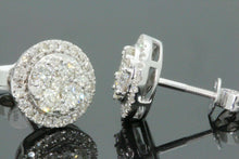 Load image into Gallery viewer, 10K WHITE GOLD 1.13 CARAT MENS/WOMENS 10mm 100% GENUINE DIAMONDS EARRING STUDS