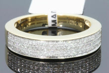 Load image into Gallery viewer, 10K YELLOW GOLD .46 CT DIAMOND MEN WEDDING BAND BRIDAL ENGAGEMENT RING PINKY