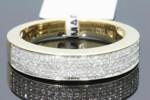10K YELLOW GOLD .46 CT DIAMOND MEN WEDDING BAND BRIDAL ENGAGEMENT RING PINKY