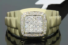 Load image into Gallery viewer, 10K YELLOW GOLD .37 CARAT MENS REAL DIAMOND ENGAGEMENT WEDDING PINKY RING BAND