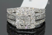 Load image into Gallery viewer, 10K WHITE GOLD 2.26 CARAT PRINCESS DIAMOND WOMEN BRIDAL WEDDING ENGAGEMENT RING