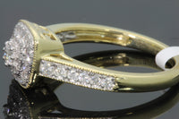 10K SOLID YELLOW GOLD .50 CT REAL DIAMOND WOMEN BRIDAL WEDDING ENGAGEMENT RING