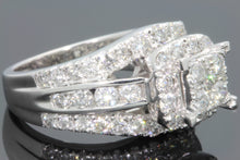 Load image into Gallery viewer, 10K WHITE GOLD 2.75 CARAT WOMEN REAL DIAMOND ENGAGEMENT RING WEDDING RING BRIDAL