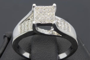 .20 CARAT WOMENS LADIES WHITE GOLD FINISH DIAMOND ENGAGEMENT BRIDAL WEDDING RING