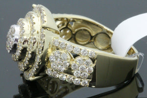 10K SOLID YELLOW GOLD 1.97 CARAT REAL DIAMOND ENGAGEMENT RING WEDDING PINKY BAND